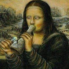 Stoned Mona Lisa From RedEyesOnline.net