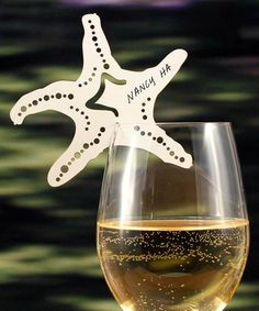 Laser Expressions Starfish Die Cut Place Card