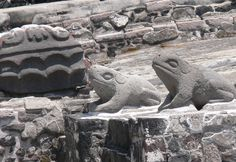 Archaeologists excavating in Mexico City have discovered a platform in the Templo Mayor ruins, believed to be used for ceremonial purposes at the Aztec capital of Tenochtitlan. The platform, covered in ornate stone carvings consists of 19 serpent heads, each half a metre in length.