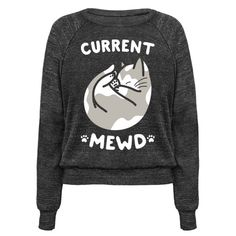 """Get ready for nap time with this funny """"Current Mewd"""" cat pun design! Perfect for cat lovers, nap lovers, sleeping, gifts for cat lovers, and showing that your current mood is feeling lazy and ready for a catnap!"""