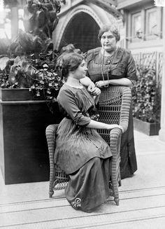 Helen Keller & Mrs. Macy, 1913.