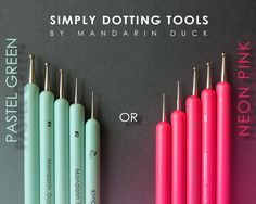 DOTTING TOOLS by Mandarin Duck (polymer clay, ball tool, sculpting, nail art). by MyMandarinDucky on Etsy https://www.etsy.com/listing/243612289/dotting-tools-by-mandarin-duck-polymer