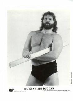 Vintage 198 TitanSports Jim Hacksaw Duggan 8x10 Promo Photo WWF Wrestling WCW