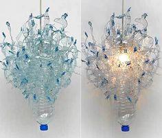 Johanna Keimeyer recycled water bottle chandelier