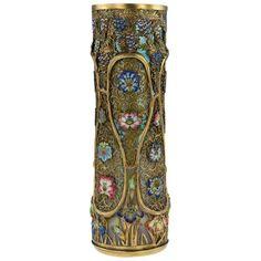 946eaaa73 19th Century Japanese Solid Silver-Gilt and Enamel, Loetz Vase, G.T Marsh  For