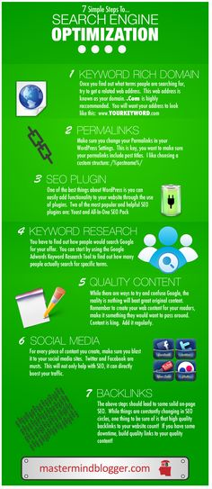 7 Simple Steps To... Search Engine Optimization #infographic