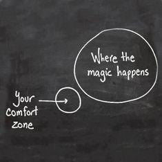 where the magic happens. lol - sayings - quotes - quotes - inspirational words - words of wisdom - Great Quotes, Quotes To Live By, Me Quotes, Motivational Quotes, Inspirational Quotes, Motivational Speakers, Magic Quotes, Leap Of Faith Quotes, Positive Quotes
