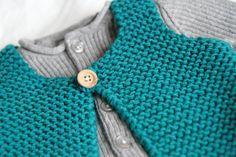 Gilet berger 2 ans - les tricots de Granny