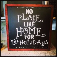 No Place Like Home for The Holidays - 2x2 chalkboard sign Christmas / holiday decor on Etsy, $40.00