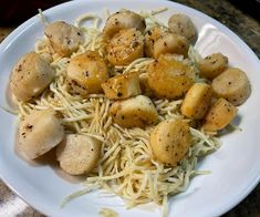 Complete Optavia Lean and Green Recipe - Scallops with Palmini Heart of Palm Angel Hair Pasta Noodles. Noodle Recipes, Pasta Recipes, Dinner Recipes, Healthy Meal Prep, Healthy Fats, Healthy Recipes, Sauteed Scallops, Lean Protein Meals, Lean And Green Meals