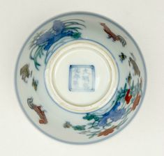 Doucai 'Chicken cup', Ming dynasty, Chenghua mark and period, AD1465–87