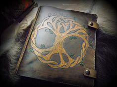 Viking Yggdrasil Tree of Life Design Leather by BeastmanCaravan
