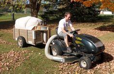 Leaf Vacuum trailer.  Absolutely wonderful IDEA!