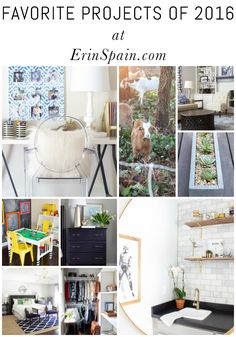 This post features favorite projects of 2016, including room makeovers, DIY projects, travel posts, and more!