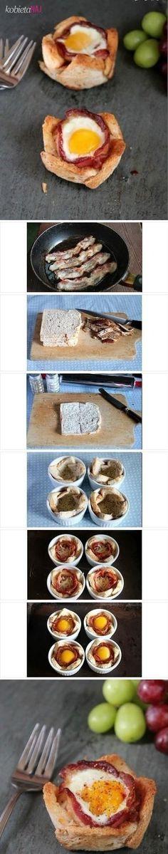 Pyszne babeczki chlebowe z jajkiem - Przepis!!!