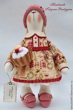 Купить Зайка Сладкоежка. - зайка, зайка тильда, зайцы ручной работы, интерьерная кукла