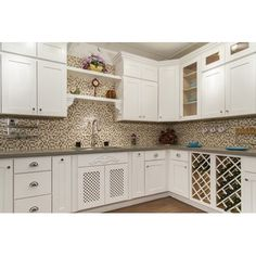 Kitchen base cabinets - NGY Stone & Cabinet White Shaker 30 x 21 Wall Cabinet Shaker Kitchen, New Kitchen, Kitchen Decor, Kitchen Ideas, Kitchen Island, Decorating Kitchen, Kitchen Sink, Hickory Kitchen, Spanish Kitchen