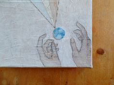 in our hands original mixed media collage by MessyBedStudio