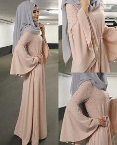 Amazing abaya with hijab Islamic Fashion, Muslim Fashion, Modest Fashion, Fashion Outfits, Trendy Fashion, Modest Wear, Modest Dresses, Modest Outfits, Hijab Evening Dress