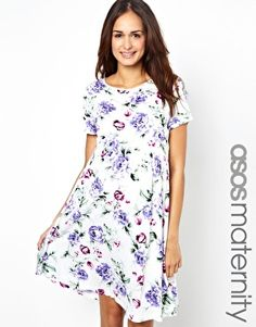 ASOS Maternity Exclusive Skater Dress in Floral Print