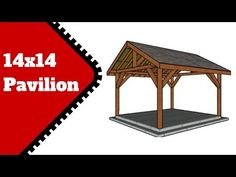 This step by step diy woodworking project is about a outdoor pavilion plans. I have designed this square pavilion with a gable roof so you can create some nice shade in your garden. Backyard Pavilion, Outdoor Pavilion, Backyard Gazebo, Backyard Patio Designs, Diy Gazebo, Gazebo Plans, Woodworking Projects Diy, Woodworking Plans, Pavillion Design