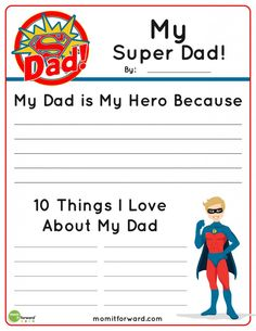 My Super Dad Father's Day Printable