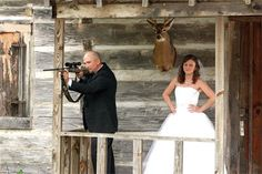 Wedding photography planning by Knots 'N Such Events (bride and groom, avid hunter).  Photo by Brant Daniel Photography.