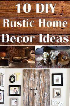 10 DIY Rustic Home Decor Ideas [ SpecialtyDoors.com ] #rustic #hardware #slidingdoor