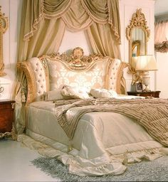Marie Antoinette Bedroom French Style bedroom ( 1780 ) Marie Antoinette Style hand carved our from solid wood . The Magnificent bed wi. Baroque Furniture, Antique French Furniture, Luxury Furniture, Furniture Design, French Country Bedrooms, French Country Decorating, French Decor, Modern Bedroom, Bedroom Decor