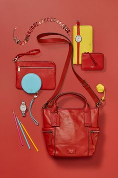 This holiday's palette of red, yellow and blue compliment our Emerson Satchel and smalls quite nice.