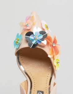 Image 3 of Miss KG Caela Floral Embellished Heeled Court Shoes