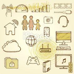 Home Network Royalty Free Stock Vector Art Illustration