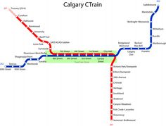C-Train Stations in Calgary with Addresses