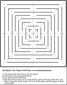 easy christmas tree paper craft for kids