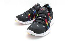 ATMOS × NIKE FREE POWERLINES + BLACK/RAINBOW #sneaker