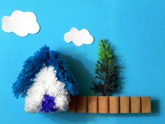 casita de lana para mini maqueta