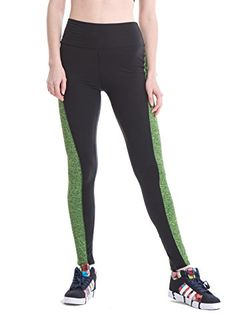 2d2613a9b2b0cd Yomsong Womens Tights Yoga Running Pants Workout Leggings small SIDEGREEN  -- More info could be