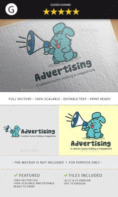 Advertising Logo - Animals #Logo #Templates Download here: https://graphicriver.net/item/advertising-logo/19734716?ref=alena994