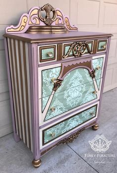 Some Of The Best Shabby Chic Furniture Ideas Furniture Fix, Hand Painted Furniture, Funky Furniture, Refurbished Furniture, Repurposed Furniture, Unique Furniture, Shabby Chic Furniture, Furniture Projects, Furniture Makeover
