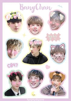 Exo Stickers, Tumblr Stickers, Kids Stickers, Printable Stickers, Cute Stickers, Kpop Diy, A Love So Beautiful, Korean Stationery, Fanart