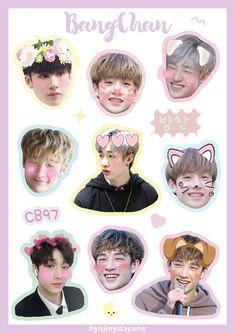 Exo Stickers, Tumblr Stickers, Kids Stickers, Printable Stickers, Cute Stickers, Kpop Diy, Kids Fans, Chris Chan, Fanart