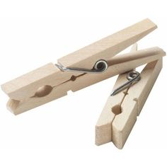 Household Essentials Wood Clothespins, 96ct, Multicolor