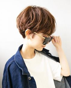 Japanese Short Hair, Brown Hair Trends, Oval Face Hairstyles, Oval Faces, Pixie, Short Hair Styles, Hair Cuts, Hair Beauty, Instagram