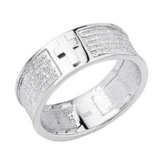 .925 Sterling Silver Lords Prayer Embossed Mens Ring GoldenMine. $50.00. Promptly Packaged with Free Gift Box and Gift Bag. Fashionable and elegant styling. Made From Beautiful .925 Sterling Silver. Special manufacturing process held to ensure less wear and tarnish