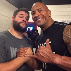 Kevin Owens & The Rock #nxt #wwe