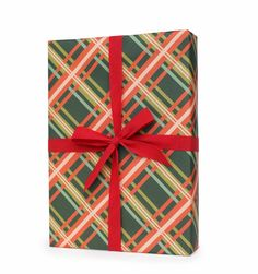 Holiday Plaid SET OF 3 DECORATIVE WRAPPING SHEETS