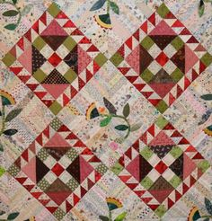 roll roll cotton boll quilt bonnie hunter | Keeping You in Stitches