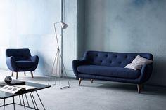 Blå Herman lænestol og sofa  Sofakompagniet | Dansk design - direkte til dig | http://dk.sofacompany.com/