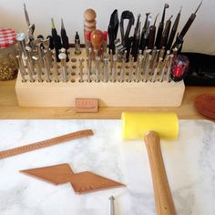 DIY Idea: Make a Simple Wooden Tool Organizer | Man Made DIY | Crafts for Men | Keywords: diy, diy, woodworking, wood