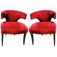 Pair of Art Deco Style  Swain Game Chairs